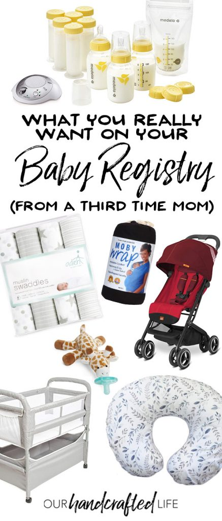 What Your Really Need on Your Baby Registry - From a Third Time Mom - Our Handcrafted Life