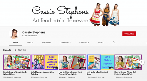 The Best Educational YouTube Channels - Cassie Stephens Art