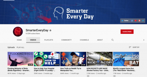 The Best Educational YouTube Channels - Smarter Every Day