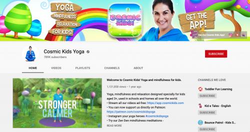 The Best Educational YouTube Channels - Cosmic Kids Yoga