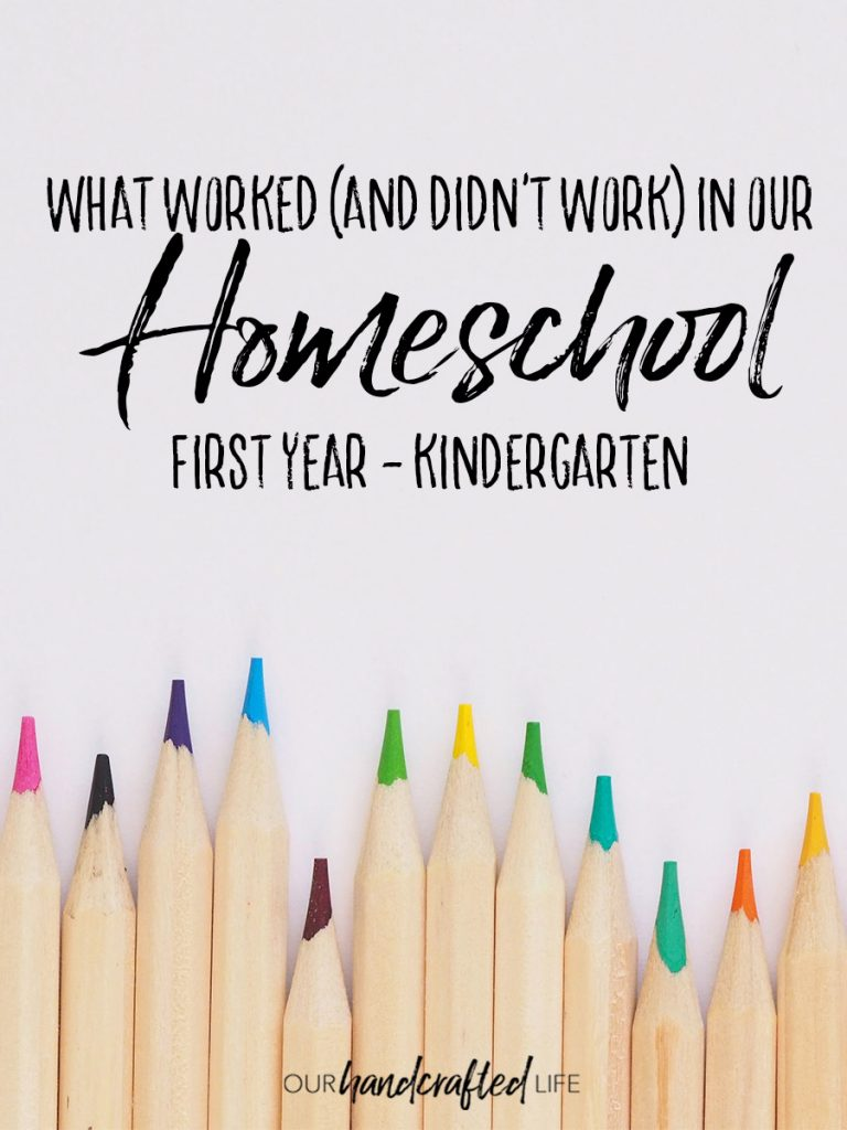 What Worked in Our First Year of Homeschool