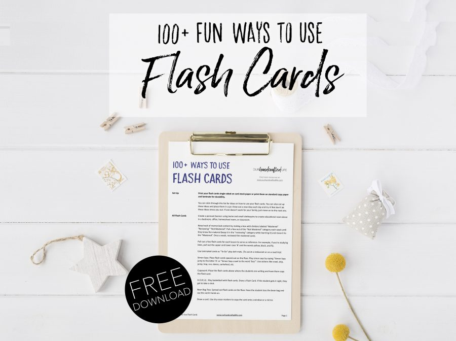 How to Use Flash Cards - 100 Fun Ways to Use Flash Cards