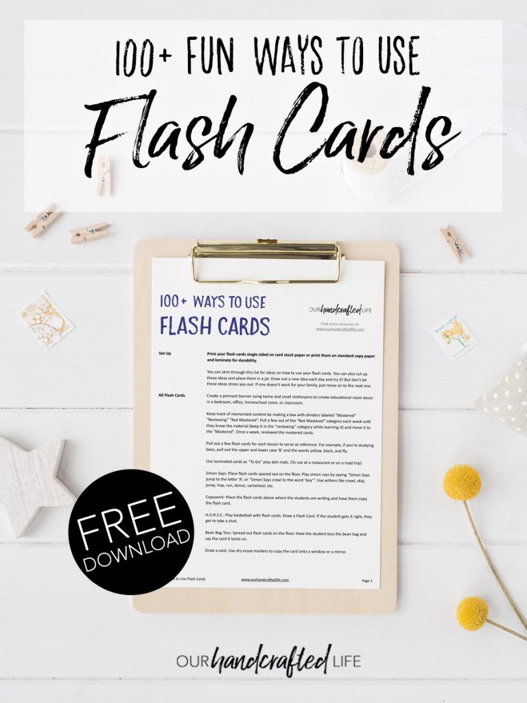 How to Make Flash Cards More Fun - 100 Engaging Ways to Use Flash Cards