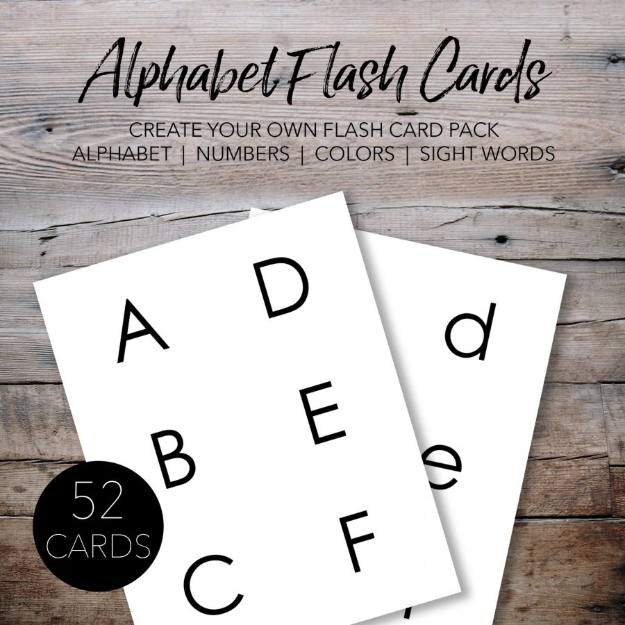 Free Printable Alphabet Flash Cards for Kids