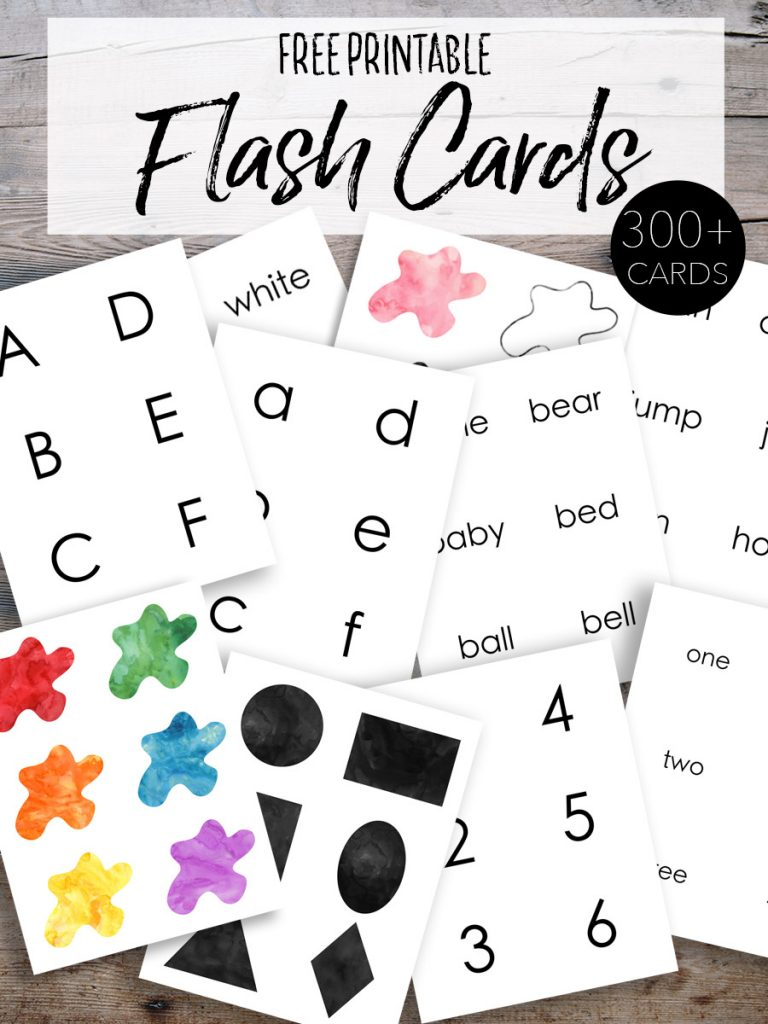 Free Printable Flash Cards for Kids - Our Handcrafted Life Tall