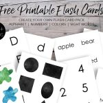 Free Printable Montessori Flash Cards for Kids - Our Handcrafted Life