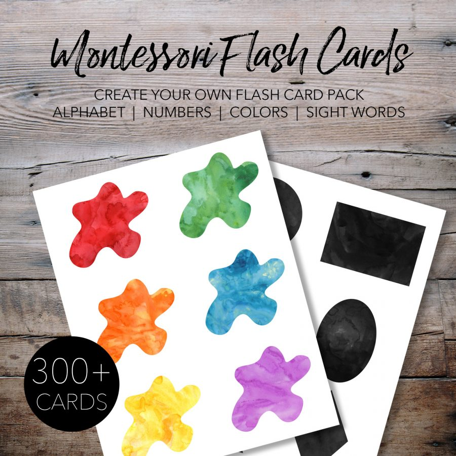 Free Printable Montessori Flash Cards for Kids - Number Flash Cards, Calendar Flash Cards, Color Flash Cards, and Shape Flash Cards