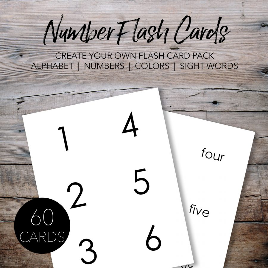 Free Printable Number Flash Cards for Kids