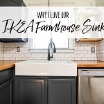 Why I Love Our Ikea Farmhouse Sink - Review of a Apron Front Double Basin Farmhouse Sink - Our Handcrafted Life