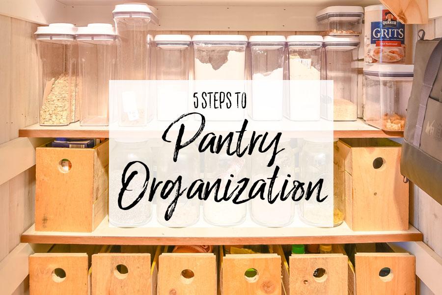 5 Steps to Pantry Organization Header