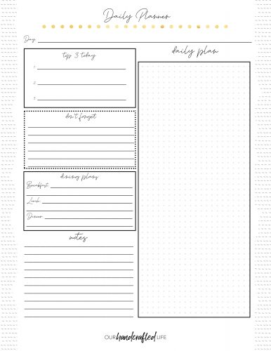Daily Planner 1 - Easy Goal Setting Planner - Gentle January - Our Handcrafted Life