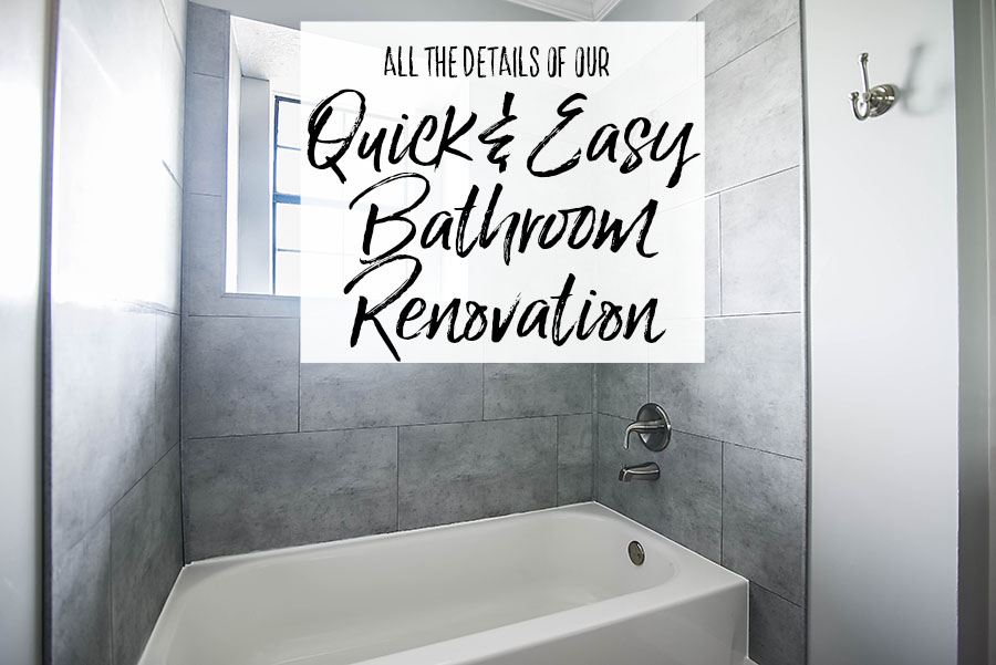 Details of the Quick and Easy Bathroom Renovation - Our Handcrafted Life Header