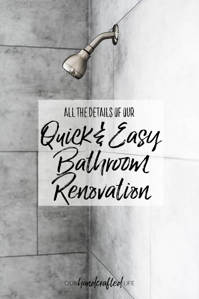 Details of the Quick and Easy Bathroom Renovation - Our Handcrafted Life Tall 2