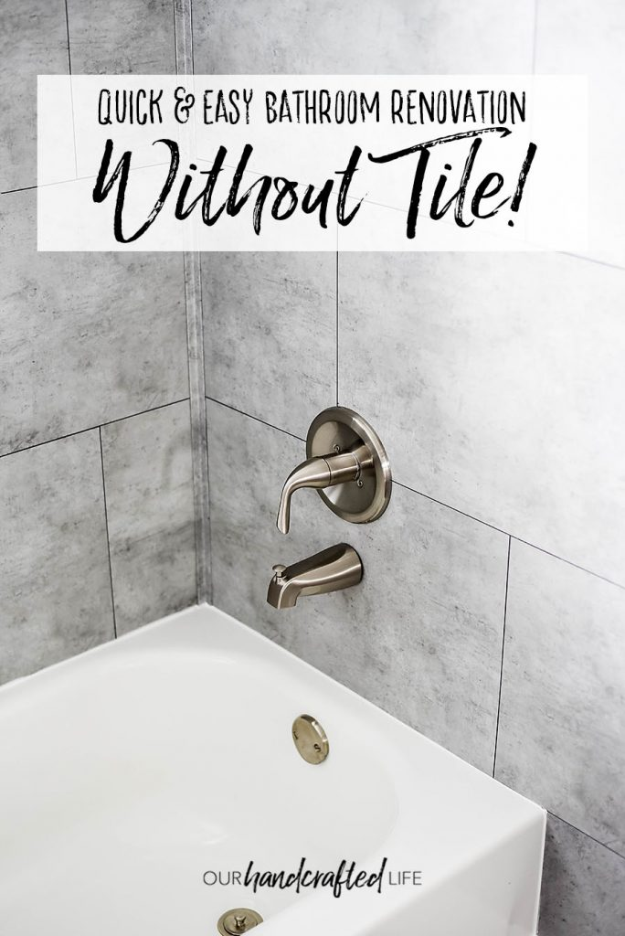 Easy Bathroom Renovation without Tile - Our Handcrafted Life Pinterest 2