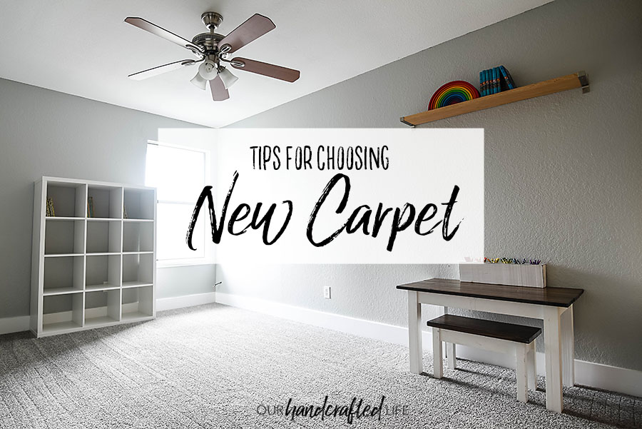 Grey Carpet Installation Reveal and Tips - Our Handcrafted Life Header