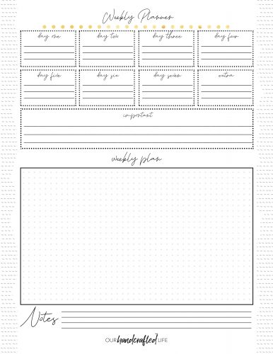 Weekly Planner - Easy Goal Setting Planner - Gentle January - Our Handcrafted Life