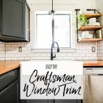Easy DIY Craftsman WIndow Trim - Our Handcrafted Life