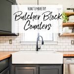 How to Make DIY Butcher Block Counters - Our Handcrafted Life